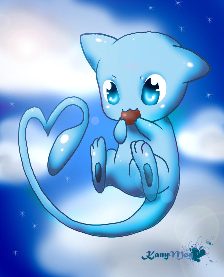 Chibi Shiny Mew by KanyMon on DeviantArt