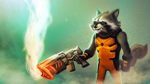 Rocket Raccoon Fanart! by Gamerlherme