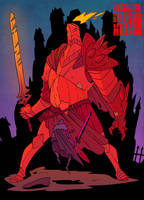 the ragged helmet knight battle by MrParanoidXXX