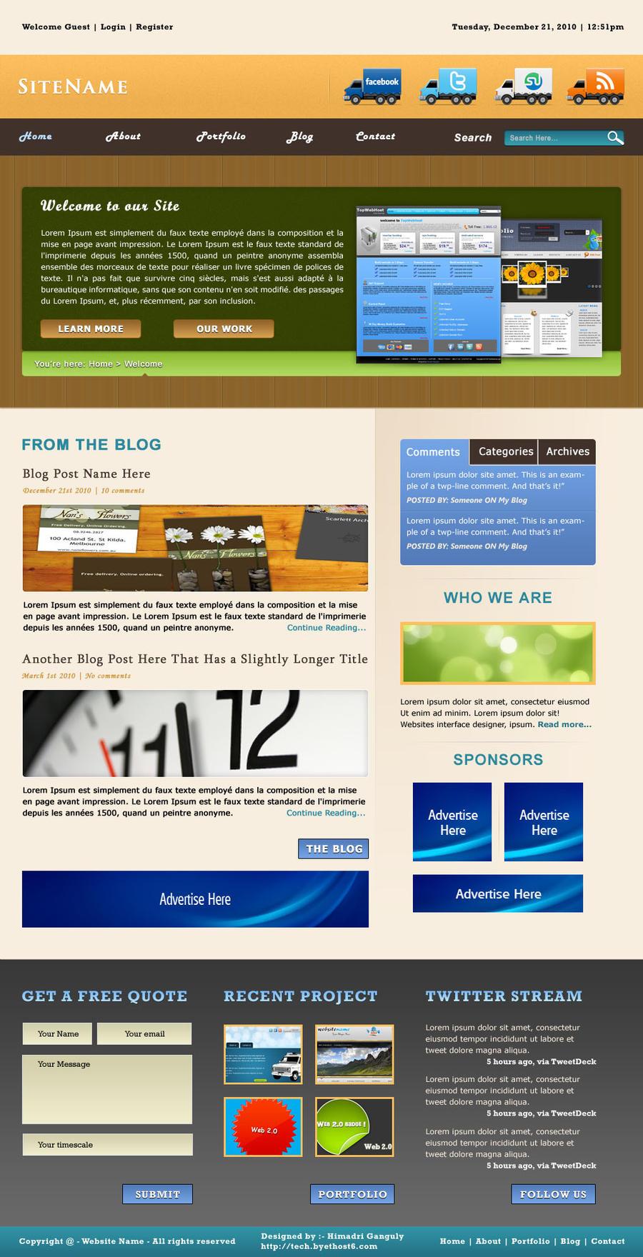 Blog Website Template by designerweb on DeviantArt zrRVJKKJ
