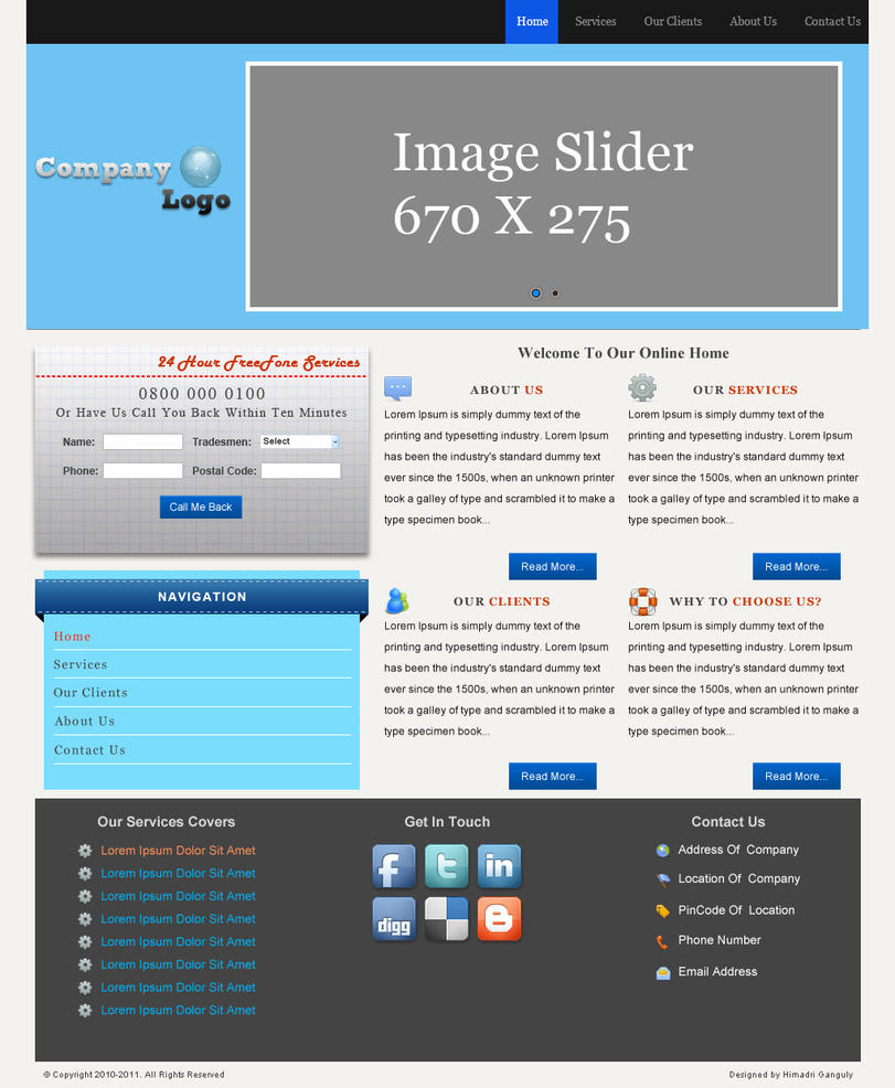 landing webpage template by designerweb on deviantart