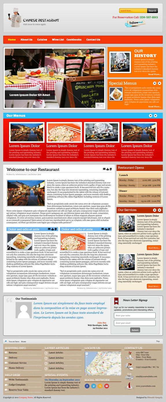 Restaurant Template by designerweb