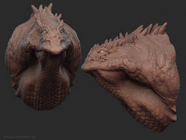 Crocodragon_Headshot by Ikameka