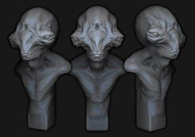 Alien Bust by Ikameka
