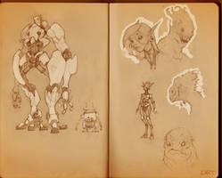 Sketchbook_Robots by Ikameka
