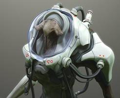 Diver_closeup by Ikameka