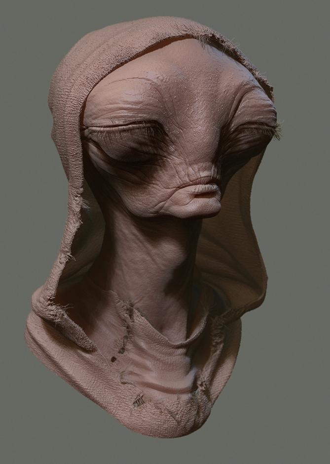 Peasant Alien 1 by Ikameka