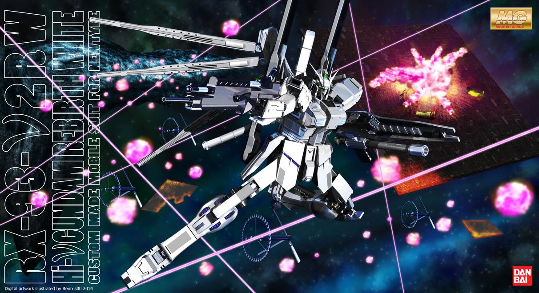 Hi-Nu Gundam Rebirth White Box Art by renixis00