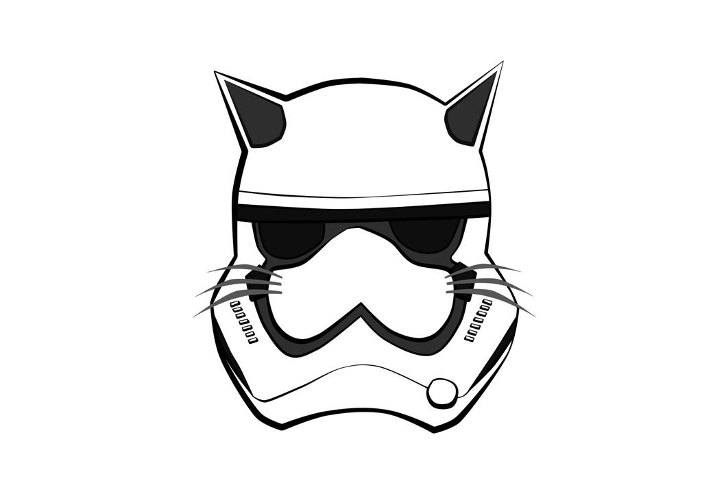 First Order Stormtrooper Face (Cat Version) by renixis00