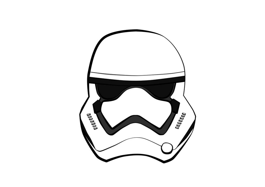 First Order Stormtrooper Face by renixis00