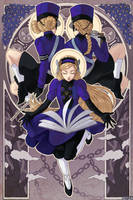 Persona 5 Art Nouveau Series: Lavenza + Wardens by nayuun