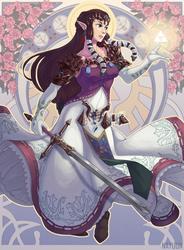 Princess Zelda Art Nouveau by nayuun