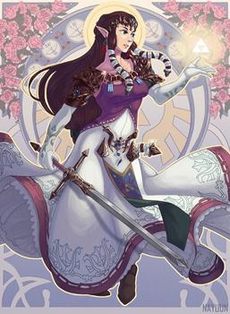 Princess Zelda Art Nouveau