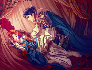felix/Annette Sleeping Beauty AU Zine piece