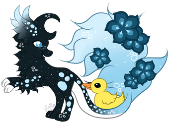 Atlantis the Faekli and Duckie the Familiar by Tori-Inazuma