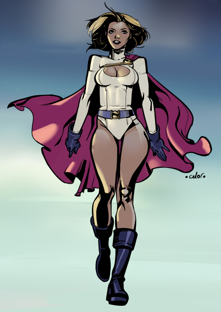 Power Girl commission by celor