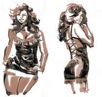 ink sketch by celor