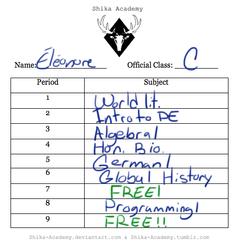 Eleonore's Schedule