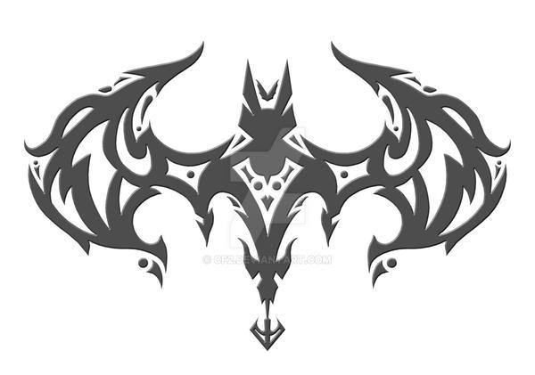 bat tribal by cf2 on deviantart. Black Bedroom Furniture Sets. Home Design Ideas