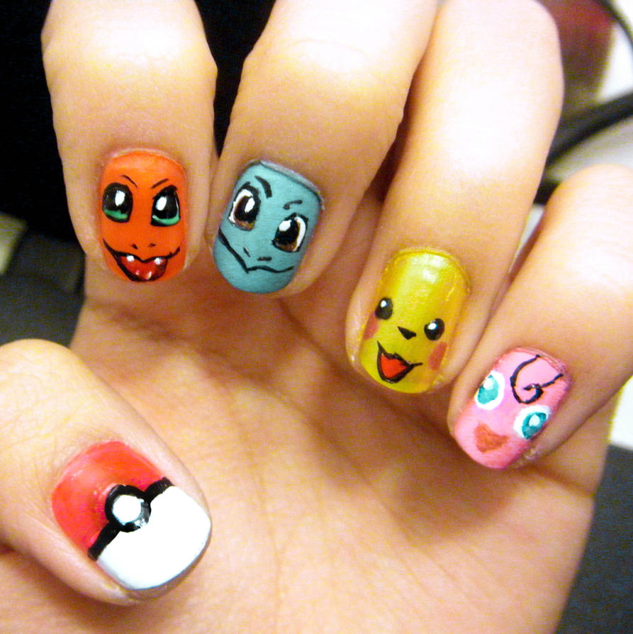 Pokemon nail designs pokemon nails by marlene