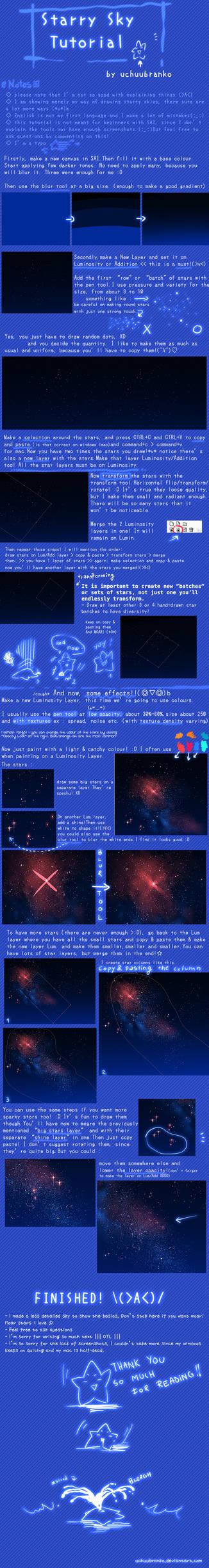 SAI : Starry Sky Tutorial