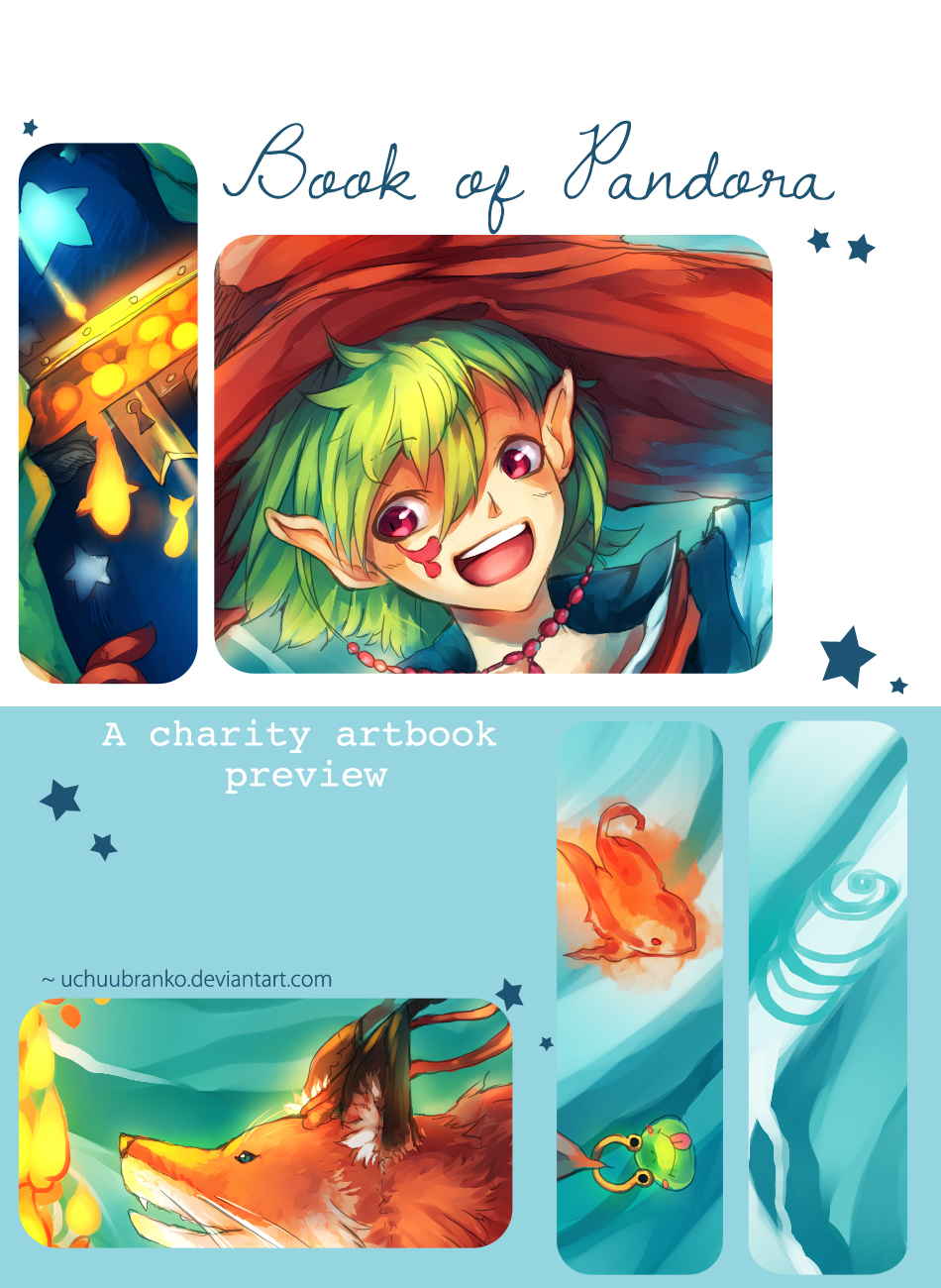Book of Pandora - a charity artbook preview by uchuubranko