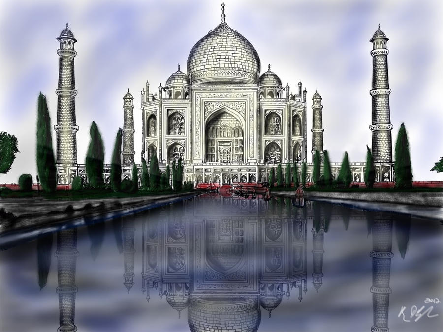 Taj Mahal Painting by Cifercrossing on DeviantArt