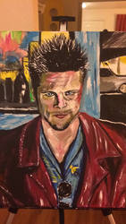 Fight Club Painting by Cifercrossing