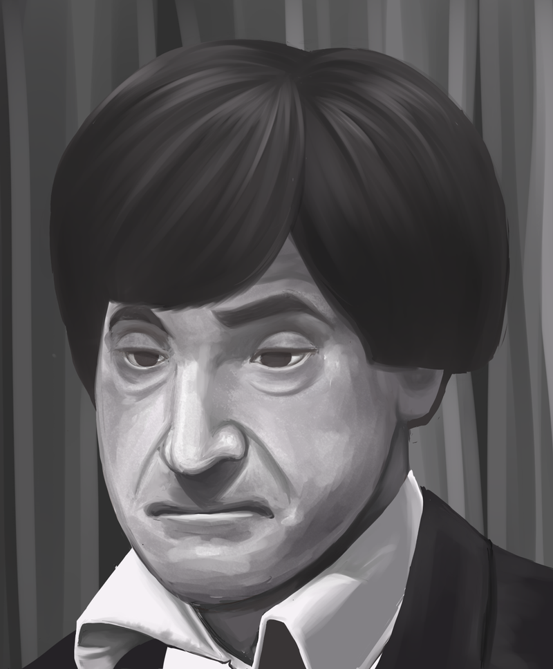 Patrick Troughton by Hokutochan15