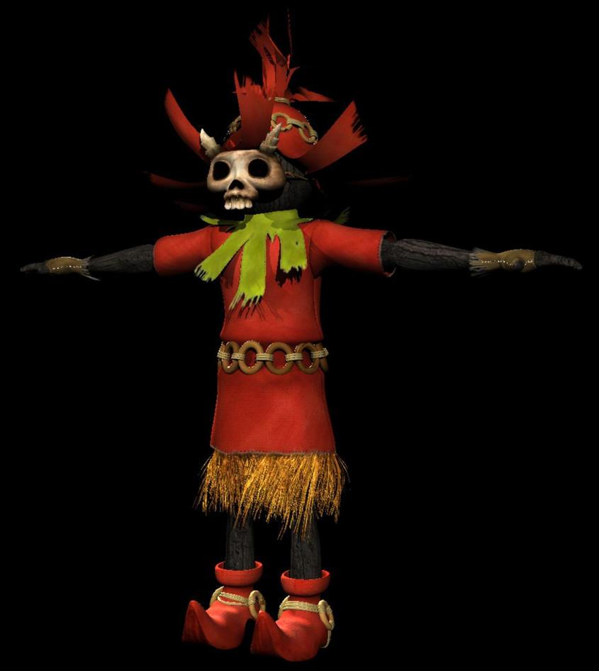 Skull Kid Character WIP by AnimateZach