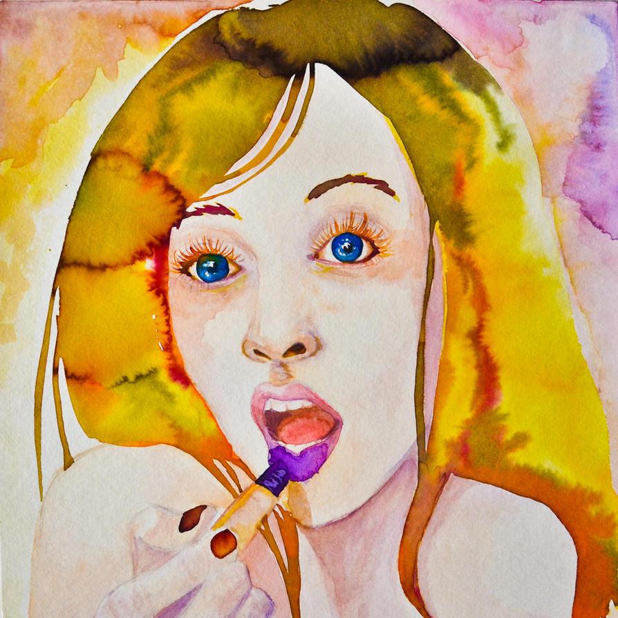 Sweet Lipstick by Owl-On-Tree
