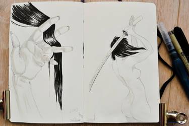 Inktober 2017 days 5+6 : Long +Sword
