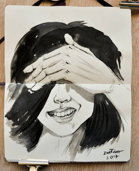 Inktober 2017 day 7+8 : Shy + Crooked