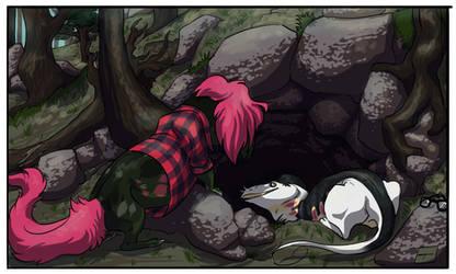 Mountain cave by Sakamerel