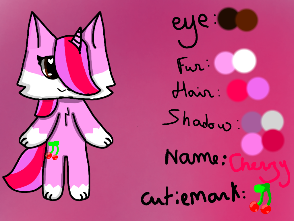 Ref picture for Cherry (my oc) by kittyemi