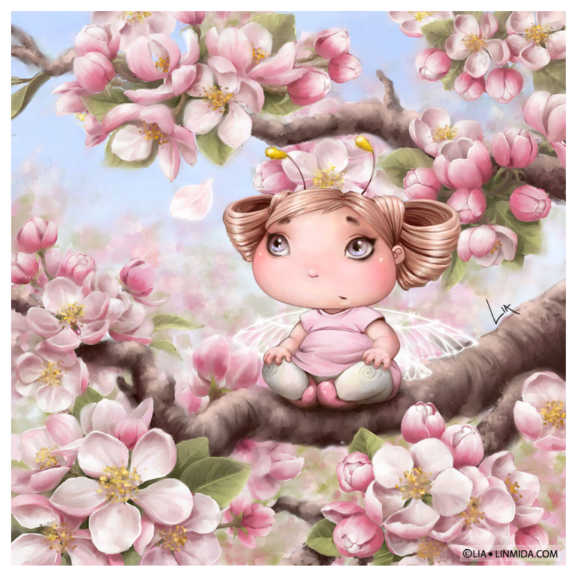 Apple blossom fairy by LiaSelina