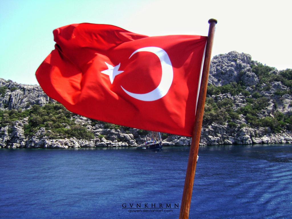 glorious Turkish flag by quwen