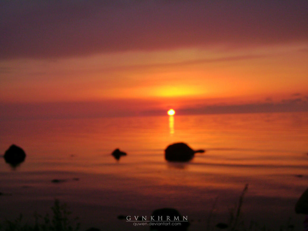 sunset by quwen