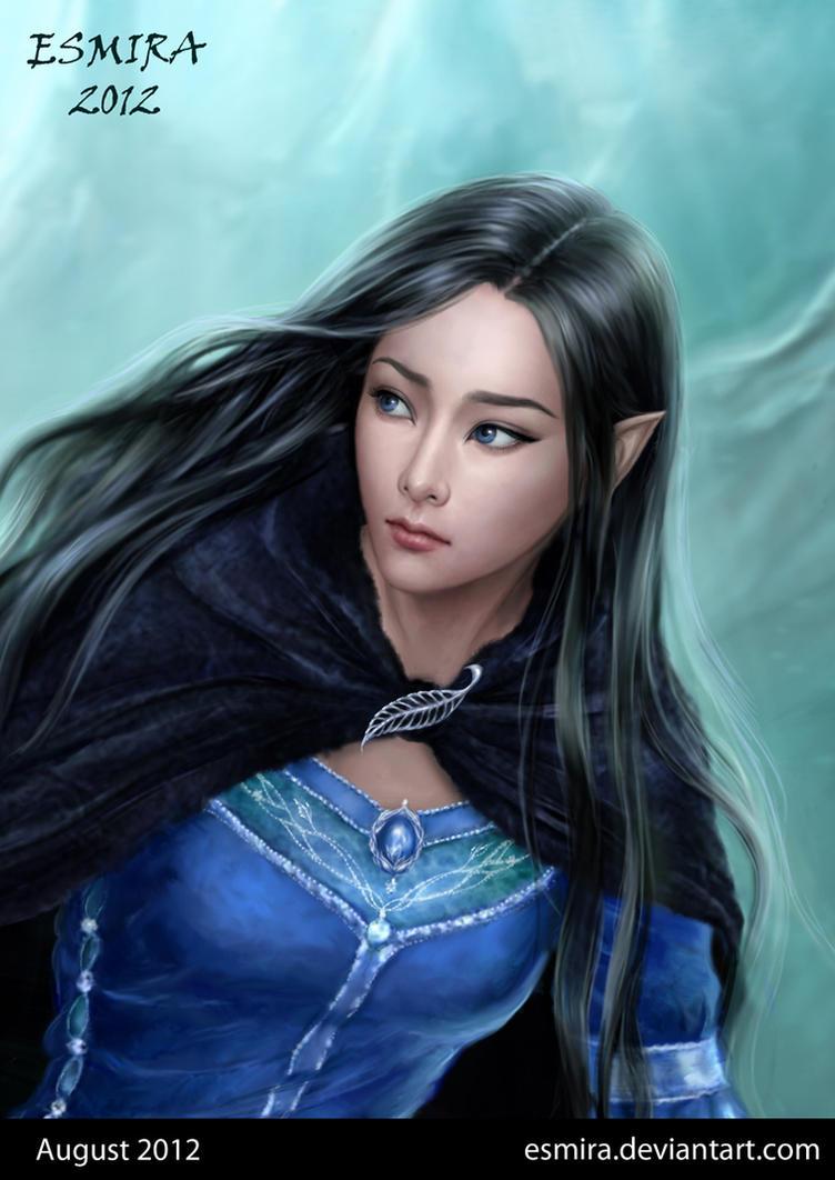 Luthien - Portrait by Esmira