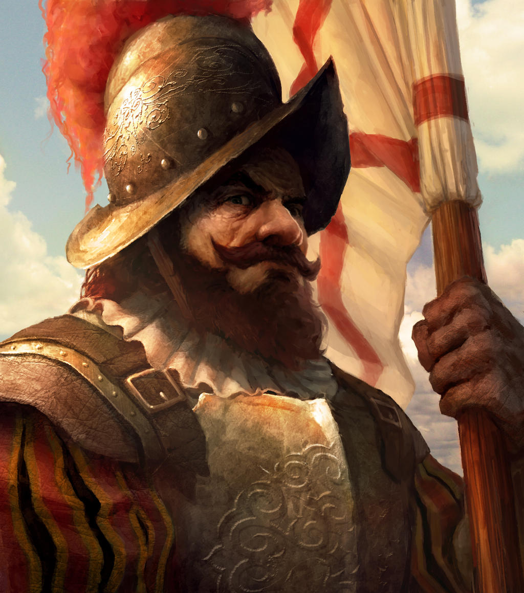 """the conquistadors Soon after christopher columbus arrived in the americas in 1492, the spanish began to hear stories of civilizations with immense riches hoping to claim this wealth and territory for spain and themselves, conquistadors, or """"conquerors,"""" sailed across the atlantic ocean."""