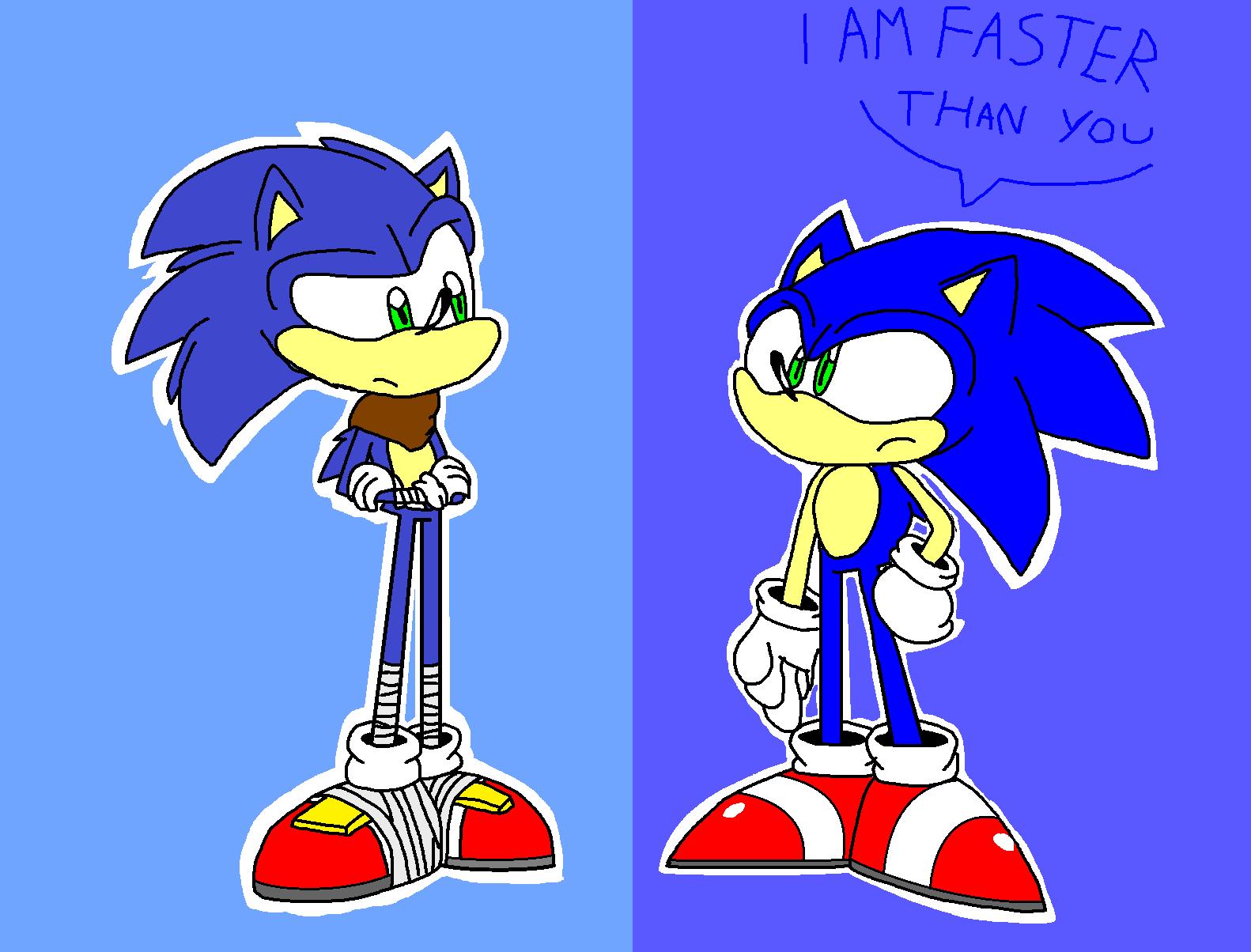 Modern Sonic Vs Boom Sonic By Angrygermankidoble On Deviantart