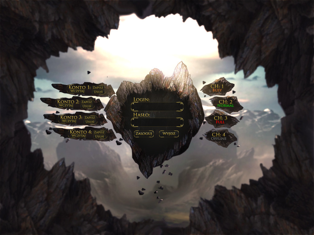 MMO Login screen by Deintegroo on DeviantArt