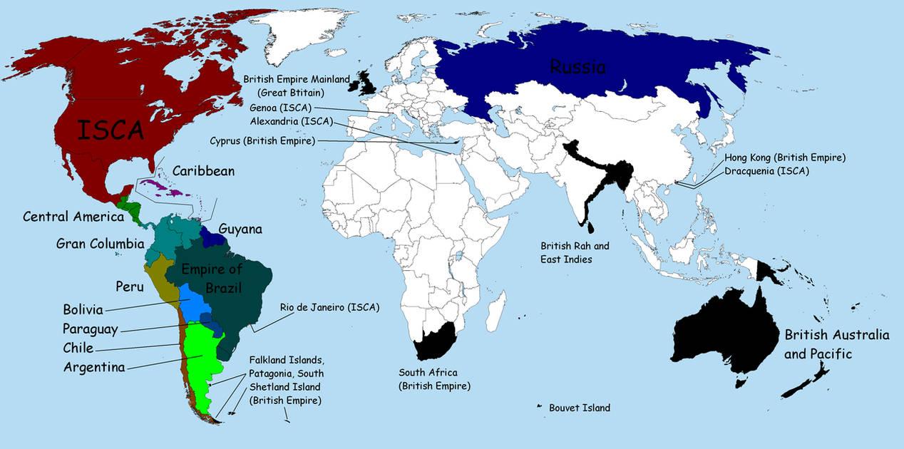 Alternate World Map By Melfranz On Deviantart