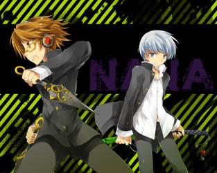 persona4 Yosuke and hero by kamiyoshi