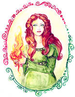 Brigit, Lady of Imbolc by Crisantemo
