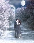 .:Winter kiss:. by melenya