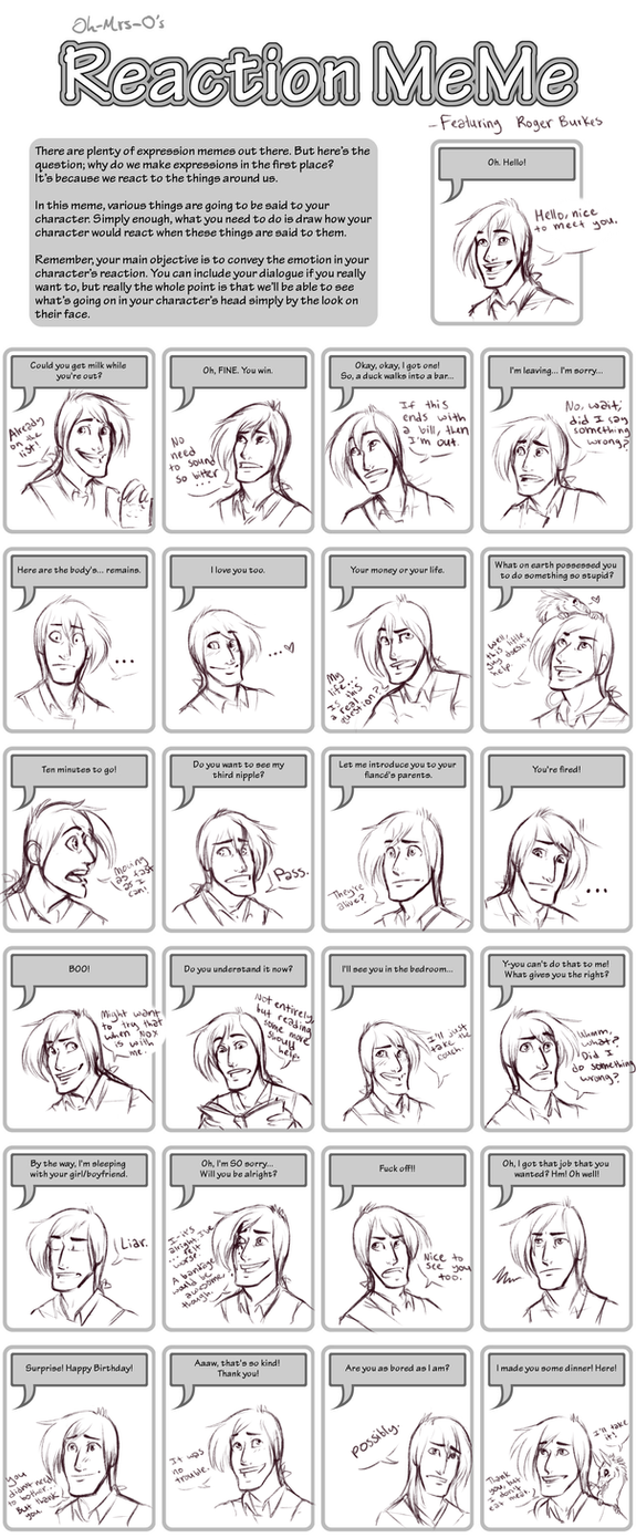 Reaction Meme By Susiron On DeviantArt - Hairstyle drawing meme