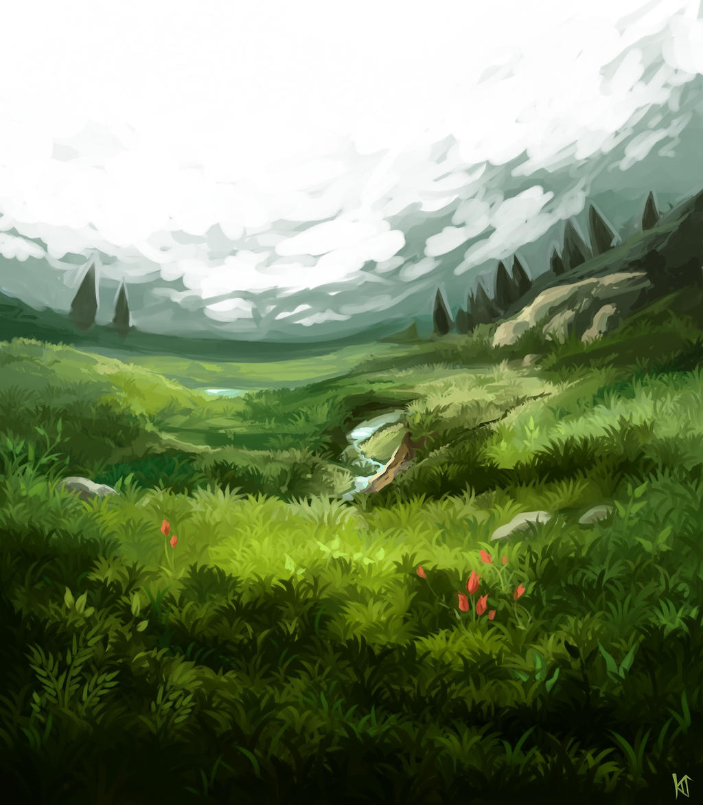 I rlly like painting grass
