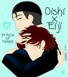 Oishi and Eiji hug