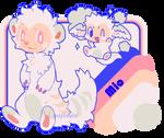 Mio the Magical Ferret, Fursona Ref 2019